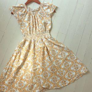 Mata traders yellow women's cotton dress